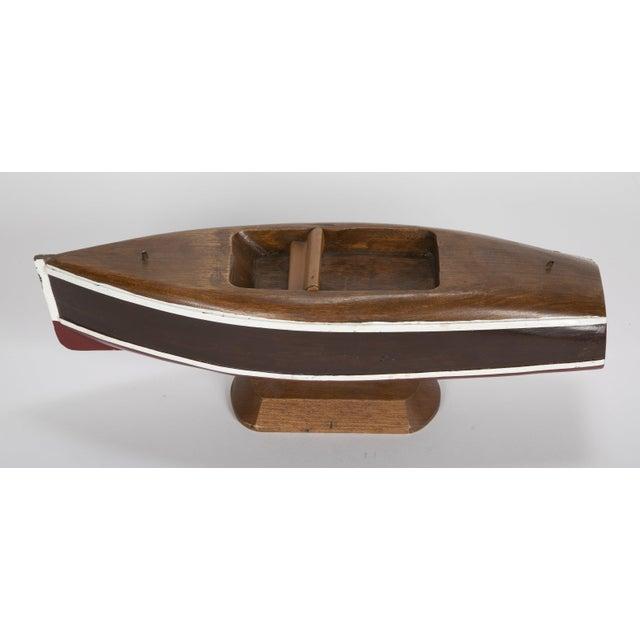Small wooden cabin cruiser boat model. Circa 1940's.