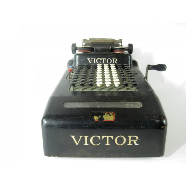 Victor Hand Crank Adding Machine For Sale - Image 4 of 4