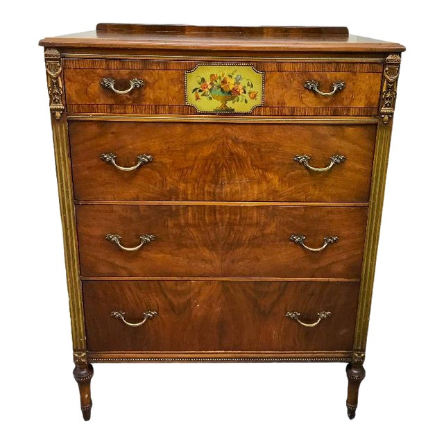 1930's Revell's Chicago Louis XVI Style Chest of Drawers For Sale