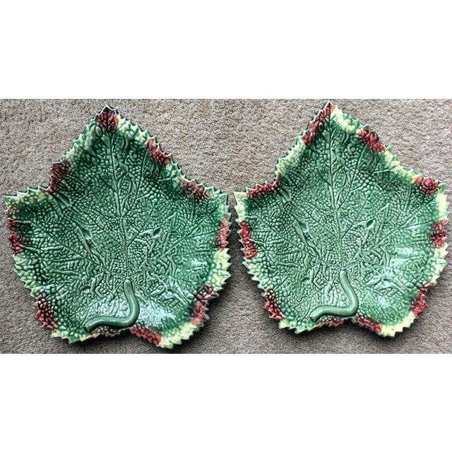 """Bordallo Pinheiro 13""""Leaf Serving Platter-2 Available For Sale - Image 9 of 10"""