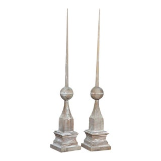 Pair of Wood Architectural Elements For Sale