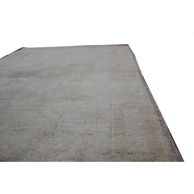 "Aara Rugs Inc. Hand Knotted Oushak Rug - 4'11"" x 3'5"" For Sale - Image 5 of 5"