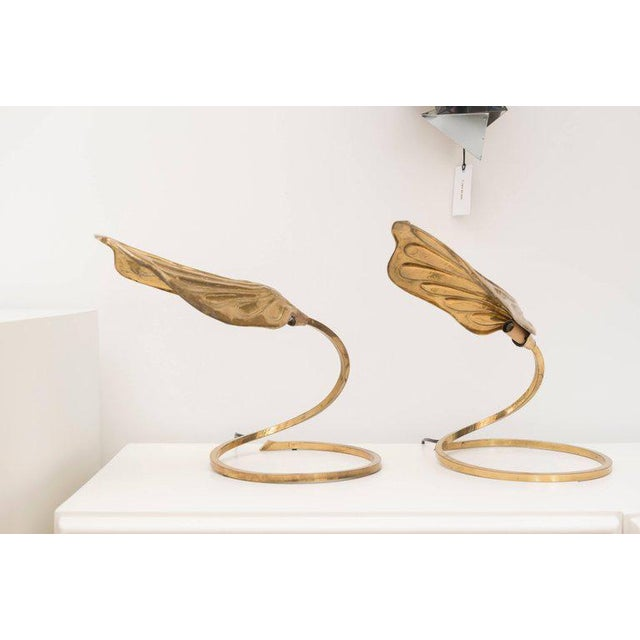 Tommaso Barbi Brass Table Lamps - A Pair - Image 2 of 8