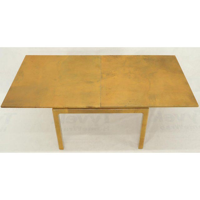 Lacqured Goat Skin Parchment Square Flip Top Dining Table For Sale - Image 6 of 13