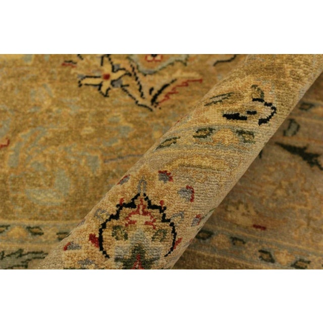 Mid-Century Modern Semi Antique Istanbul Latrice Gold/Gray Turkish Hand-Knotted Rug -4'4 X 6'2 For Sale - Image 3 of 8