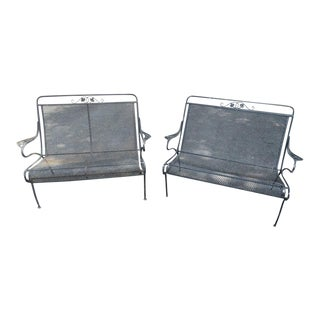 Vintage Iron Settees - a Pair For Sale
