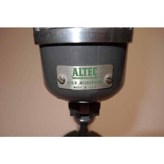 Altec Model 670-B Ribbon Studio Microphone with Rare Stand Circa 1950s For Sale - Image 4 of 5