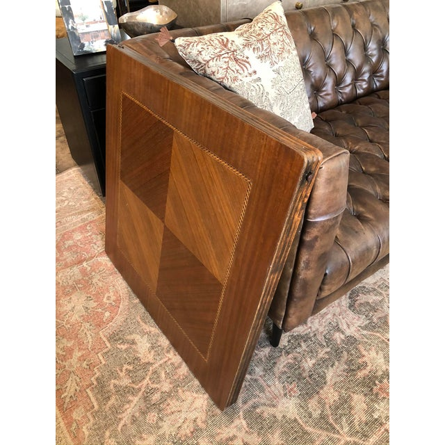 Vintage Mid Century Folding Card Table For Sale - Image 9 of 13