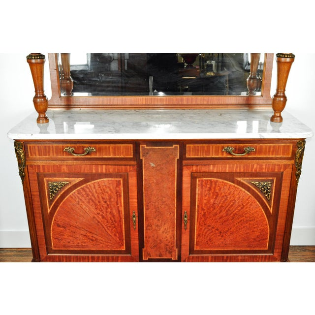 Mid 18th Century Antique Sandwood Mahogany Hutch or Cabinet For Sale - Image 5 of 13