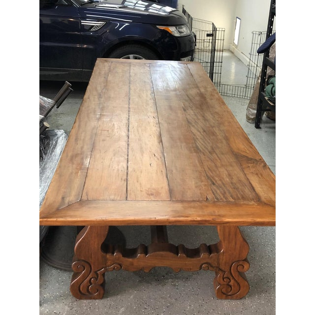 Spanish Designer Reclaimed Wood XL Dining Table For Sale - Image 12 of 13