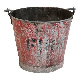 Vintage Fire Brigade Bucket