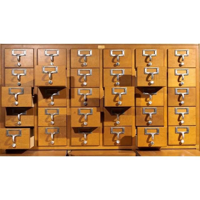 Industrial 1960s Industrial Standing Card Catalogue For Sale - Image 3 of 6
