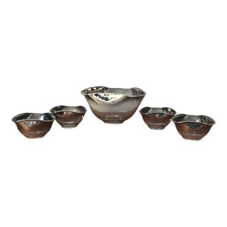 Mid-Century Mirror Ombré Bowls - Set of 5