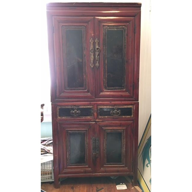 Antique Asian Two-Piece Cabinet - Image 2 of 4