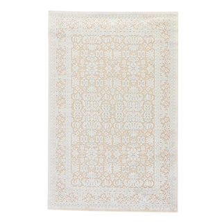 Jaipur Living Regal Damask Beige/ Blue Area Rug - 9′ × 12′ For Sale