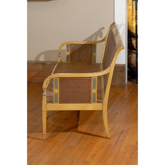 Gustavian Style Poly-Chrome Settee - Image 2 of 4