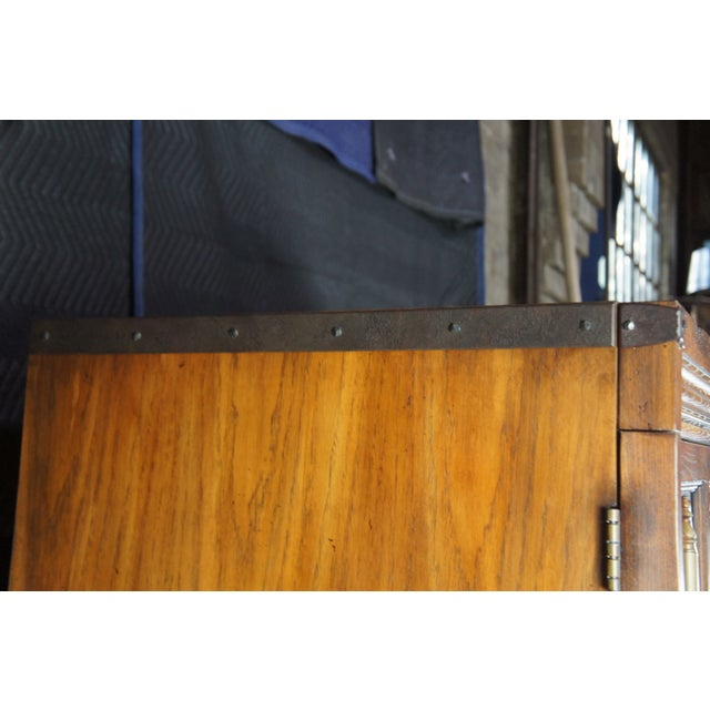 Brutalist Ralph Lauren Old World English Style Oak Sheltering Sky Armoire For Sale - Image 11 of 13