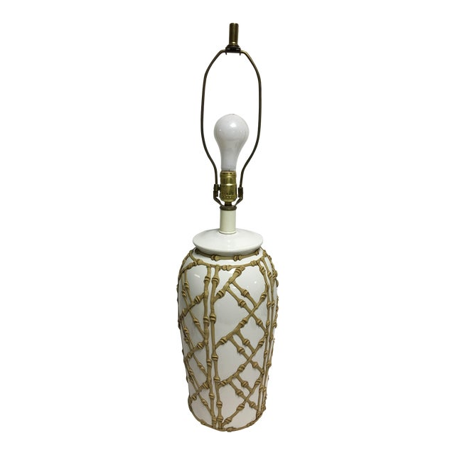 Vintage Faux Bamboo Lamp For Sale