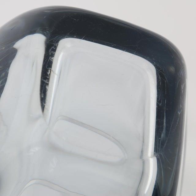 Glass 1950's VINTAGE STROMBERGSHYTTAN GLASS VASE For Sale - Image 7 of 8