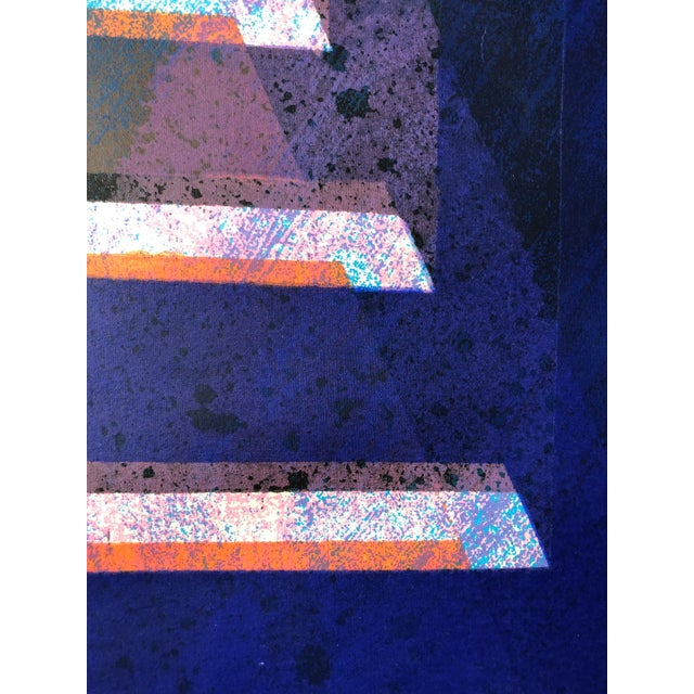 """1970s Abstract Silkscreen """"Pyramid"""" j.h. Turner For Sale In San Francisco - Image 6 of 9"""