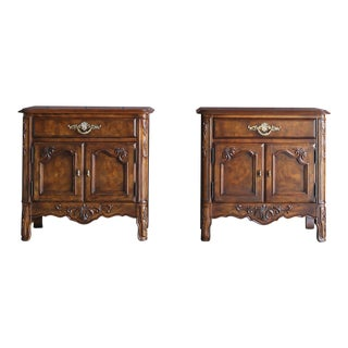 Vintage French Provincial Nightstands - a Pair For Sale