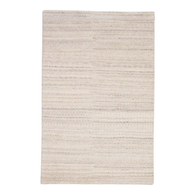 """Jaipur Living Hermitage Hand-Knotted Trellis Ivory & Silver Area Rug - 7'9""""x9'9"""" For Sale"""
