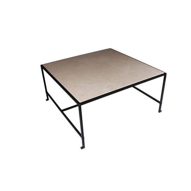 Hacienda Iron & Travertine Coffee Table - Image 2 of 3