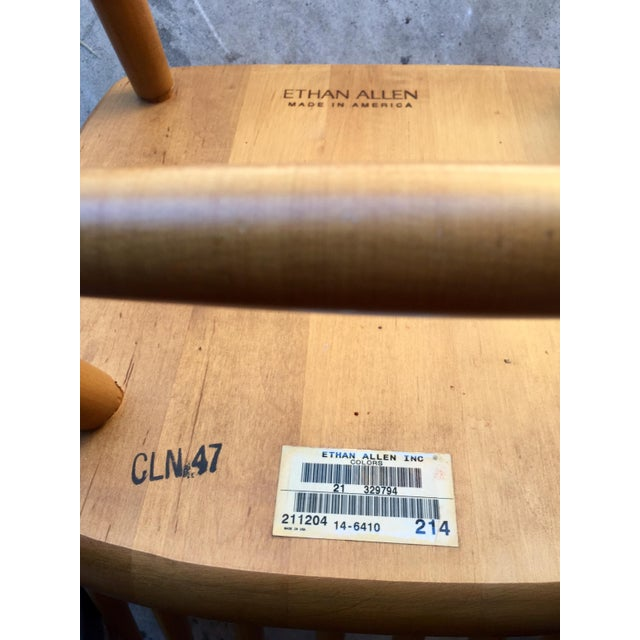Ethan Allen High Comb Spindle Back Chair For Sale - Image 10 of 11