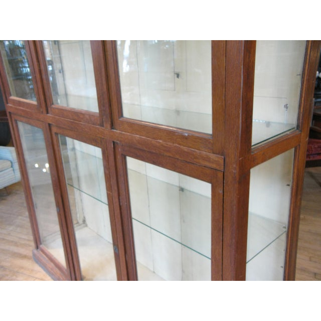 Late 19th Century Large Antique Late 19th C. Oak and Glass Display Cabinet For Sale - Image 5 of 8