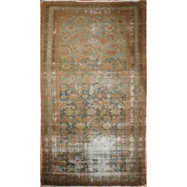 """Distressed Antique Malayer Rug - 5'2"""" X 9'7"""" For Sale"""
