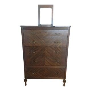Antique 5-Drawer Vanity Dresser