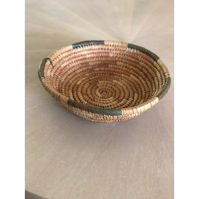 Vintage hand made basket, veggie dyed. In excellent condition