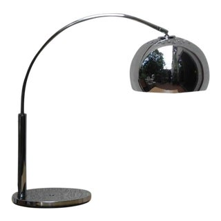 Mod Chrome Arc Modern Desk Lamp For Sale