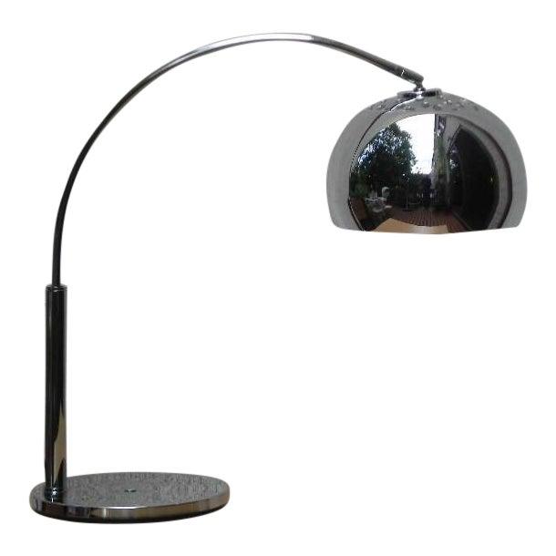 Mod Chrome Arc Modern Desk Lamp For Sale