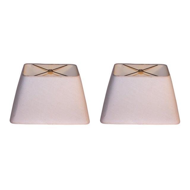 Ivory Lamp Shades - A Pair - Image 1 of 3