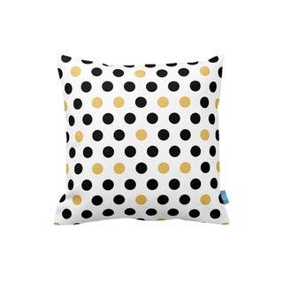 Black & White & Yellow Decorative Throw Pillow Cover