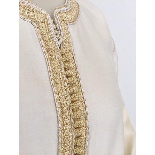 Islamic Moroccan Elegant Luxury Dupiono Silk Caftan Gown Maxi Dress For Sale - Image 3 of 13