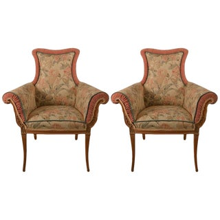 Pair of Decorative Chairs Attributed to Grosfeld House For Sale