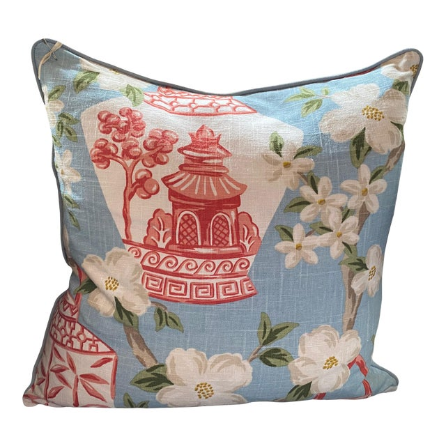 Custom Chinoiserie Pillow For Sale