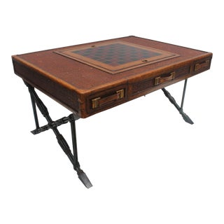 Maitland Smith X- Base Game Coffee Table For Sale