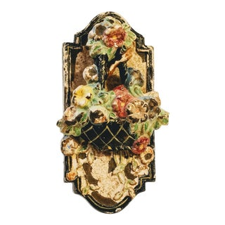 Bradley and Hubbard Cast Iron Flowerbasket Door Knocker For Sale
