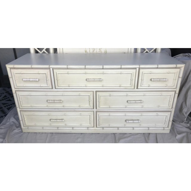 Faux Bamboo Vintage 1960 Faux Bamboo Dixie Aloha Dresser For Sale - Image 7 of 7