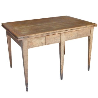 Unusual Swedish Extension Farm Table For Sale