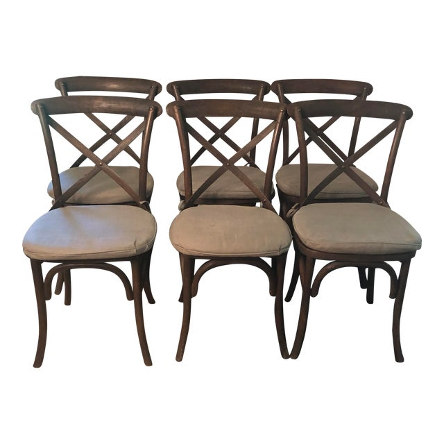 Thonet Styled Restoration Hardware Dining Chairs-Set of 6 For Sale
