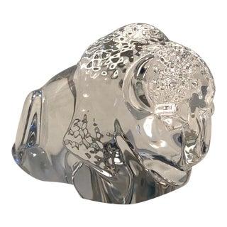 Steuben Glass Crystal Bison Hand Cooler For Sale