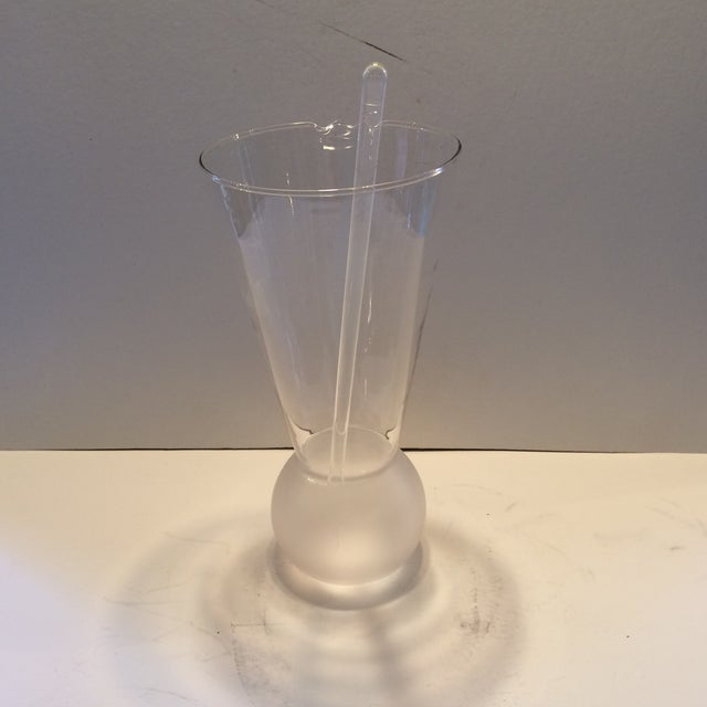 Vintage Glass Cocktail Mixing Pitcher & Stirrer - Image 3 of 11