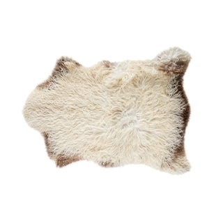 "Contemporary Natural Wool Sheepskin Pelt - 2'5""x3'3"""