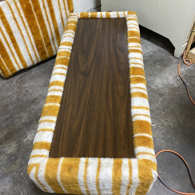 Groovy 70s Carpeted Tables Bench Set - a Set of 3 For Sale - Image 4 of 12
