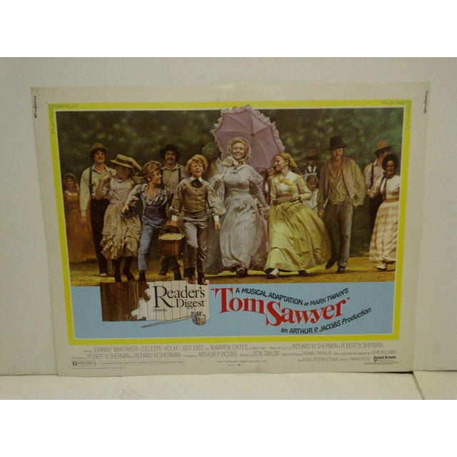 "Contemporary Vintage Movie Poster A Musical Adaptation of Mark Twains ""Tom Sawyer"" 1973 For Sale - Image 3 of 6"