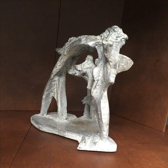 Aluminum Cast Brutalist Sculpture - Image 6 of 11